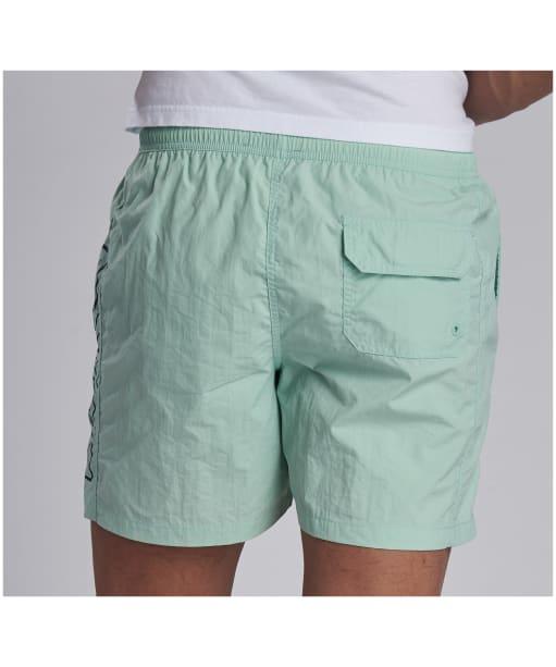 Men's Barbour International Large Logo Swim Shorts - Peppermint