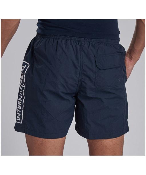 Men's Barbour International Large Logo Swim Shorts - International Navy
