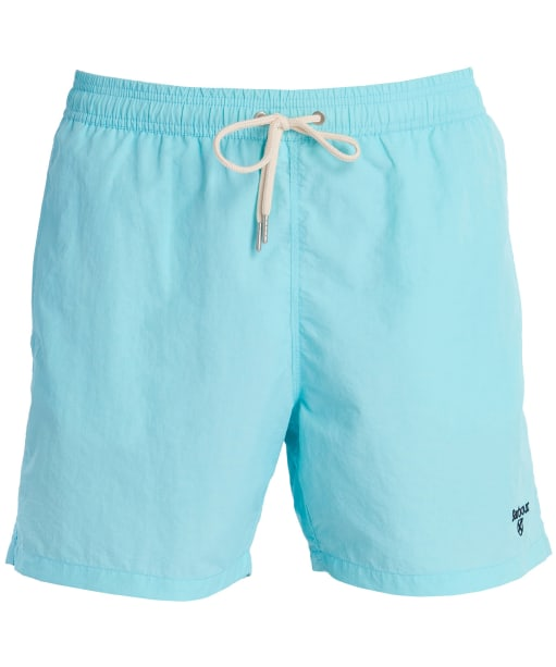 "Men's Barbour Essential Logo 5"" Swim Shorts - Aqua"