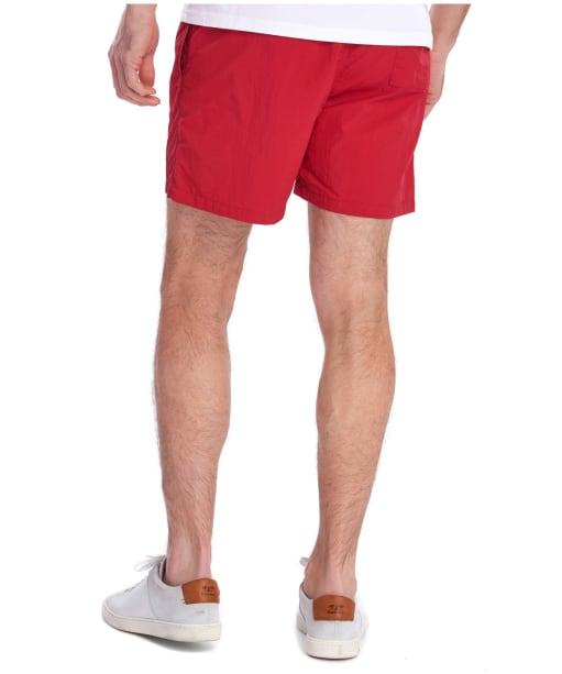 """Men's Barbour Essential Logo 5"""" Swim Shorts - Red"""