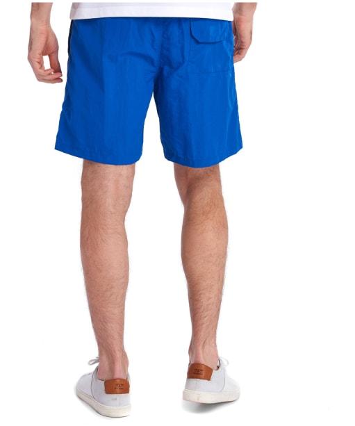 """Men's Barbour Essential Logo 7"""" Swim Shorts - Bright Blue"""