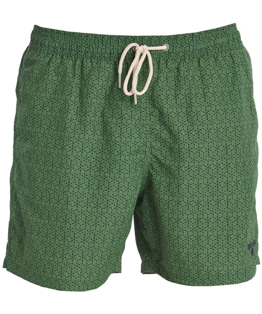 Men's Barbour Geo Print Swim Shorts - Green
