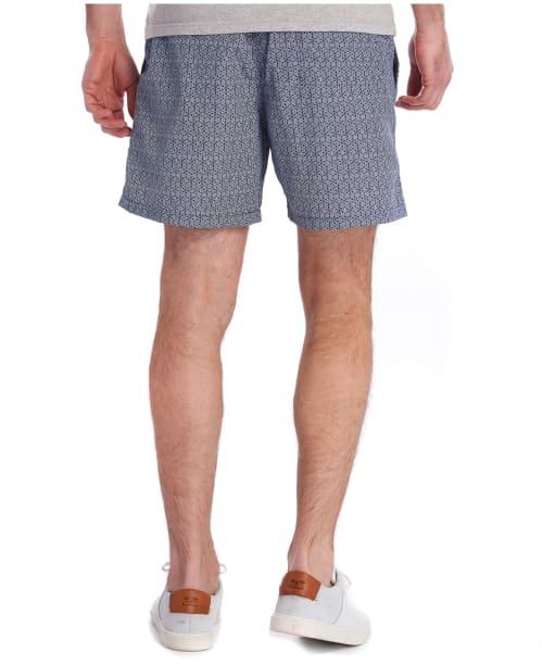 Men's Barbour Geo Print Swim Shorts - Navy