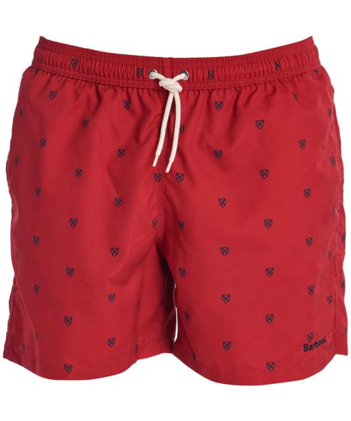 Men's Barbour Saltire Swim Shorts - Rich Red