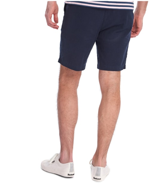 Men's Barbour Linen Mix Shorts - City Navy