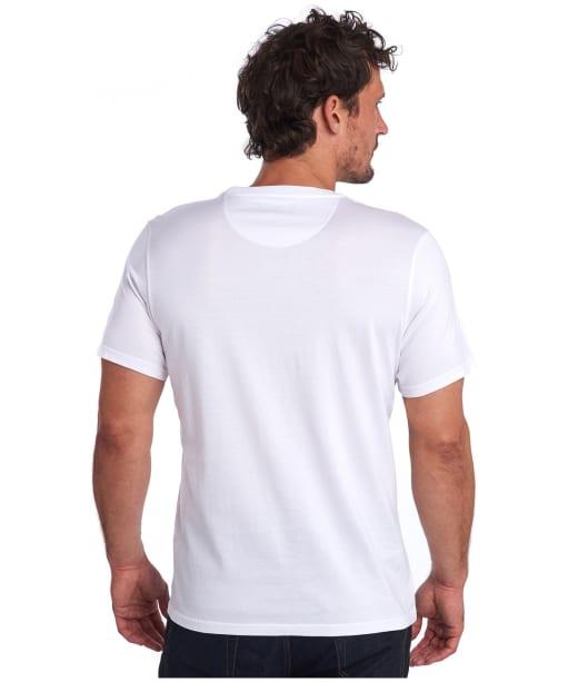 Men's Barbour Saltire Tee - White