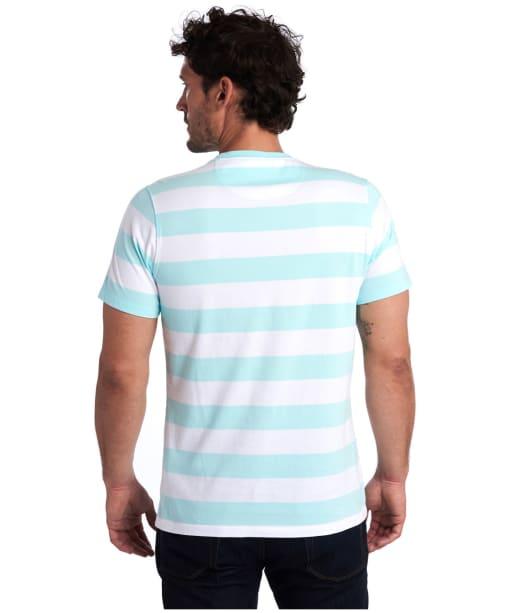 Men's Barbour Beach Stripe Tee - Aquamarine