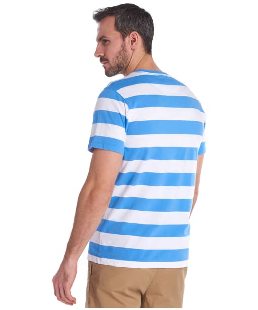 Men's Barbour Beach Stripe Tee - Colorado Blue