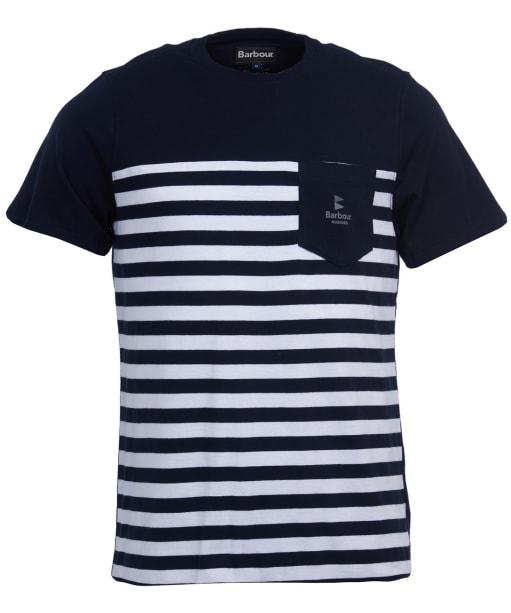 Men's Barbour Ammon Stripe Tee - Navy