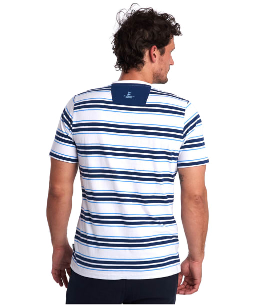 Men's Barbour Deck Stripe Tee - White