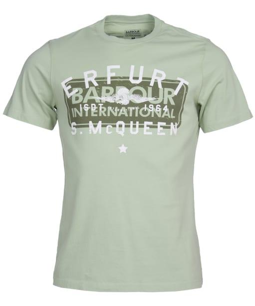 Men's Barbour International Steve McQueen Erfurt Tee - Vintage Green