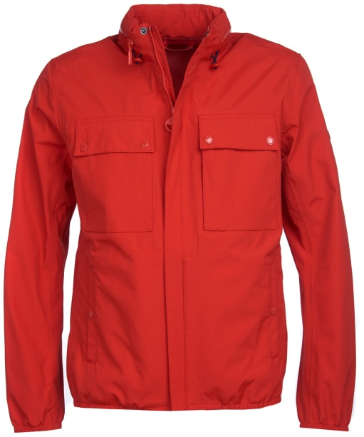 Men's Barbour International Mile Waterproof Jacket - Lava Red
