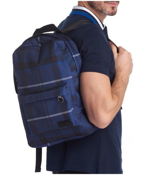 Barbour Tartan Backpack - INK TARTAN