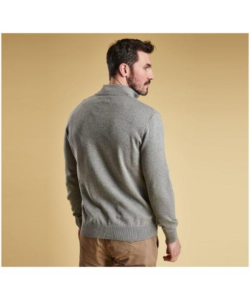 Men's Barbour Cotton Half Zip Sweater - Grey Marl
