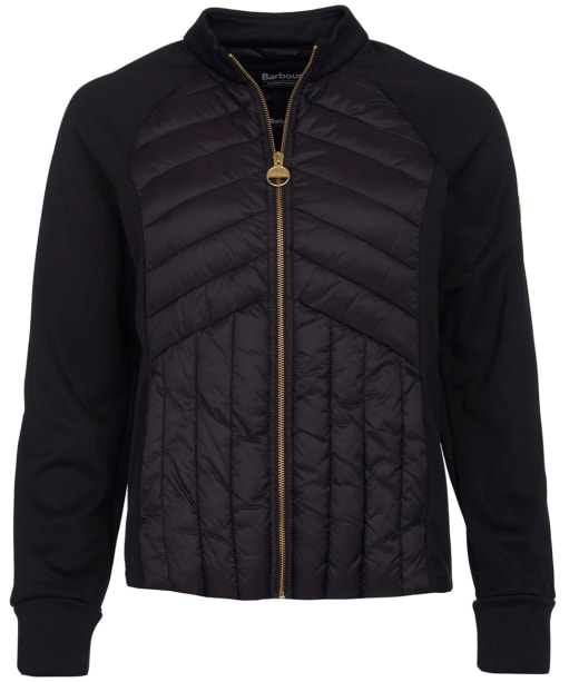Women's Barbour International Drive Sweater Jacket - Black