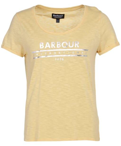 Women's Barbour International Fullcourt Tee - Citrine Yellow