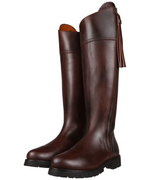 Women's Fairfax and Favor Explorer Boots - Mahogany Leather