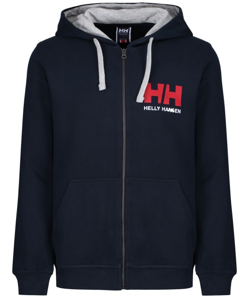 Men's Helly Hansen Logo Full Zip Hoodie - Navy