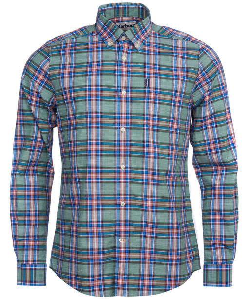 Men's Barbour Highland Check 26 Tailored Shirt - Green Check
