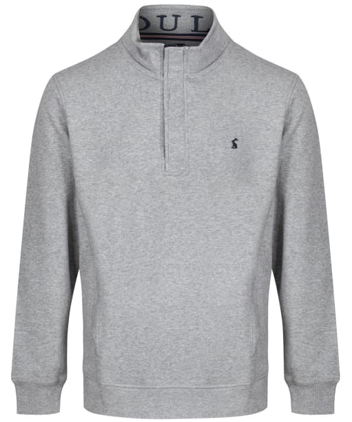 Men's Joules Deckside Half Zip Sweatshirt - Grey Marl