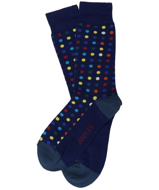 Men's Joules Striking Socks - Blue Multi Spot