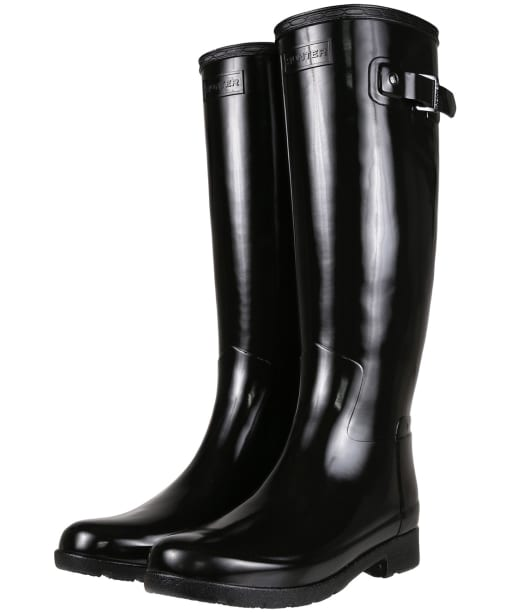 Women's Hunter Original Refined Gloss Wellington Boots - Black