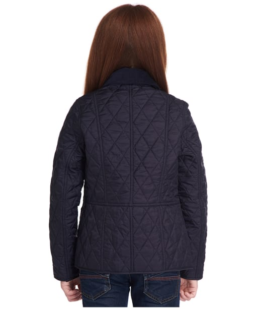 Girls Barbour Summer Liddesdale Quilted Jacket, 10-15yrs - NAVY/PALE CORAL