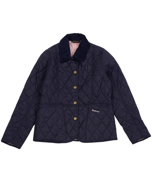 Girl's Barbour Summer Liddesdale Quilted Jacket, 2-9yrs - Navy / Pale Coral