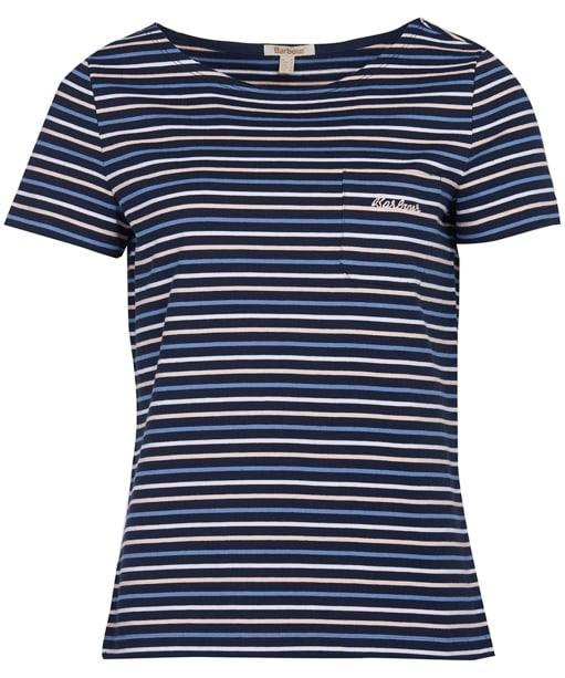 Women's Barbour Short Sleeved Hawkins Stripe Top - Navy Stripe