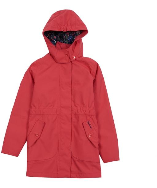 Girl's Barbour Promenade Waterproof Jacket, 10-15yrs - Coral