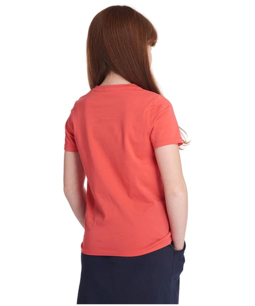Girl's Barbour Seagull Tee, 10-15yrs - Coral