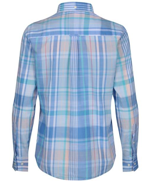 Women's GANT Madras Shirt - Pacific Blue