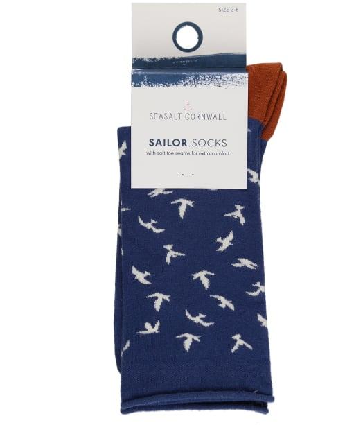 Women's Seasalt Bamboo Arty Socks - Birds Longboat
