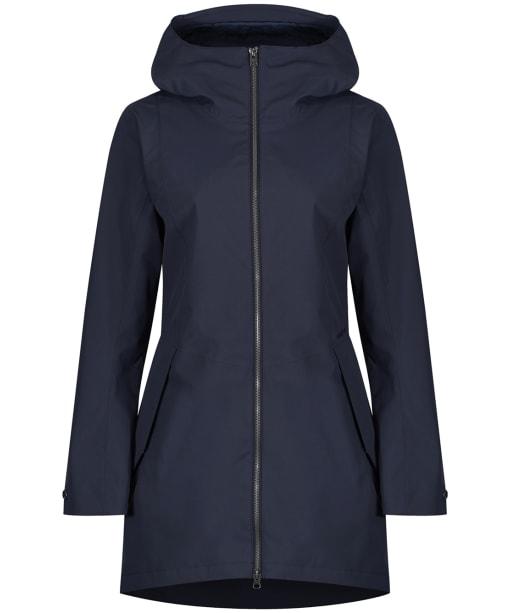 Women's Didriksons Folka Waterproof Parka Jacket - Navy Dust