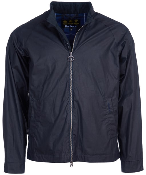 Men's Barbour Ender Waxed Jacket - Royal Navy