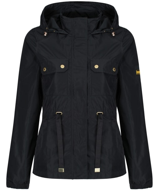 Women's Barbour International Curveball Showerproof Jacket - Black
