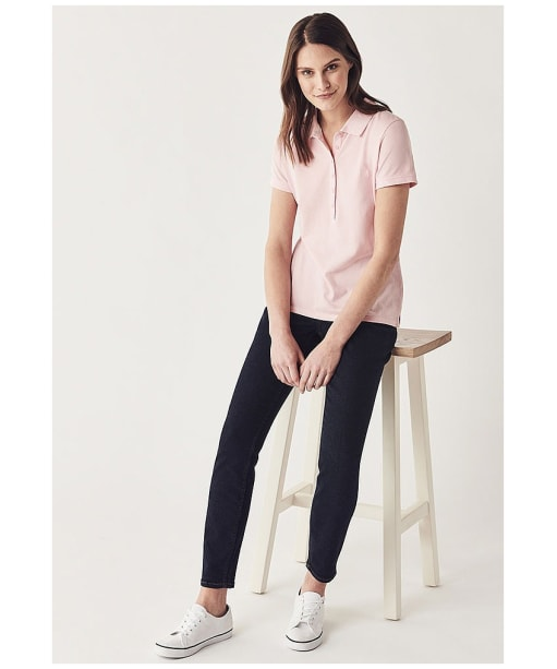 Women's Crew Clothing Classic Polo Shirt - Classic Pink