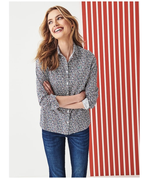 Women's Crew Clothing Lulworth Poplin Shirt - Cloud