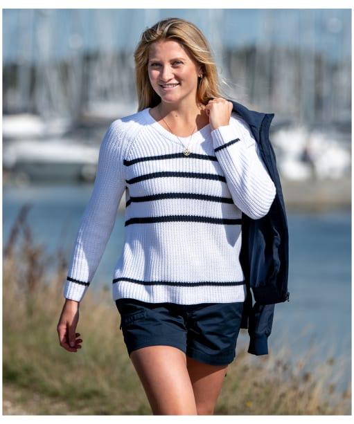 Women's Musto Sail Knit Jumper - White