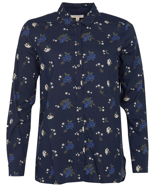 Women's Barbour Safari Shirt - Navy Print