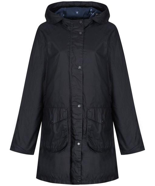Women's Barbour Updrift Waxed Jacket - Royal Navy