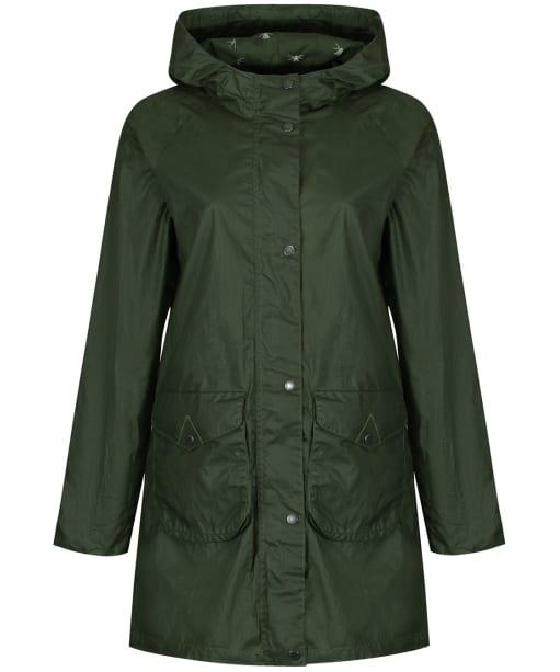 Women's Barbour Updrift Waxed Jacket - Duffle Green