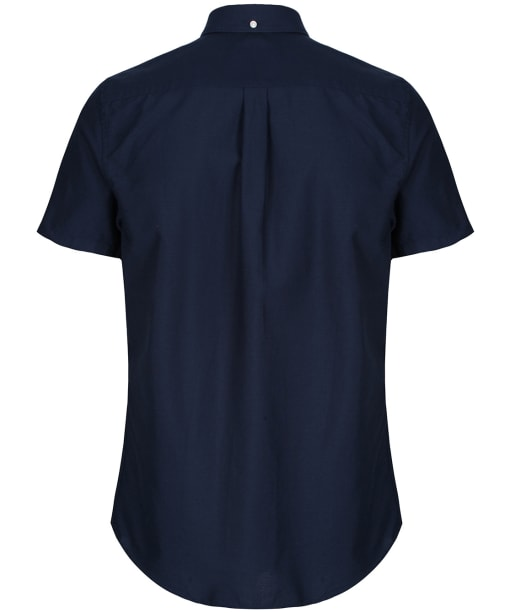 Men's Barbour Oxford 3 Short Sleeved Tailored Shirt - Navy
