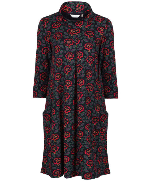 Women's Seasalt Etching Ink Dress - Textured Berries Dark Lake