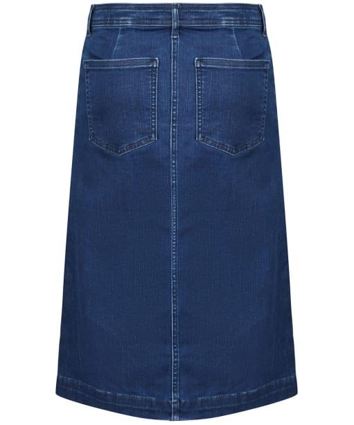 Women's Barbour Maddison Denim Skirt - Mid Wash