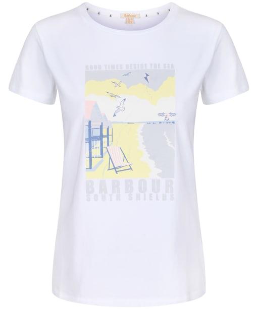 Women's Barbour Promenade Tee - White