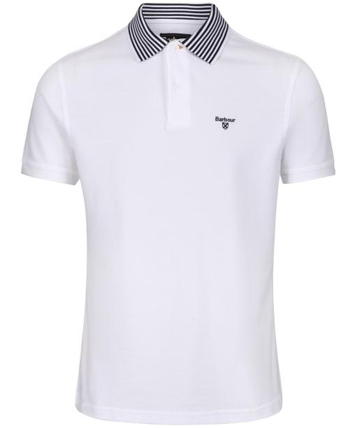 Men's Barbour Brathay Tipped Polo Shirt - White