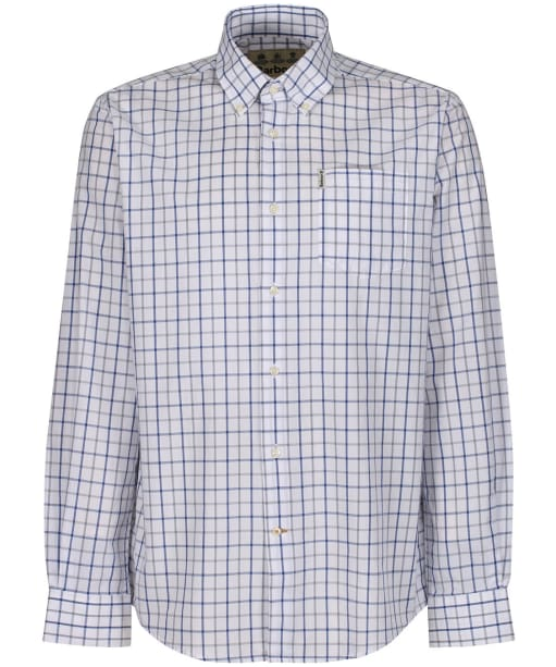 Men's Barbour Tattersall 13 Regular Shirt - Mid Blue Check