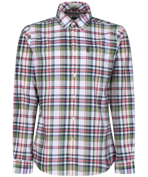 Men's Barbour Madras 5 Tailored Shirt - Green Check