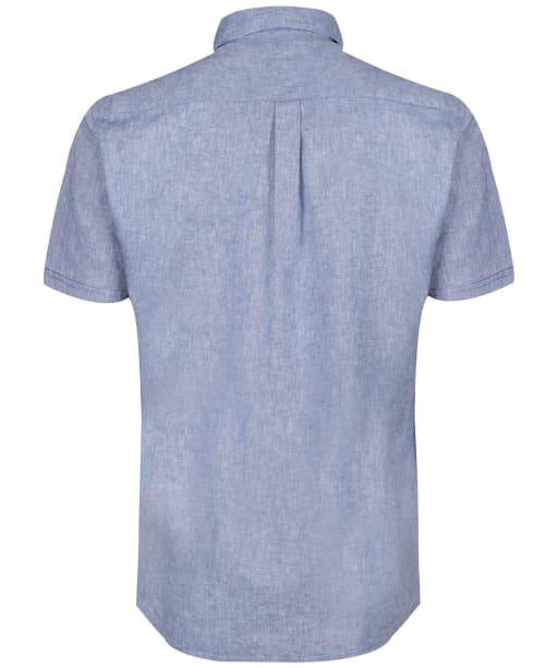 Men's Barbour Linen Mix 1 S/S Summer Shirt - Blue
